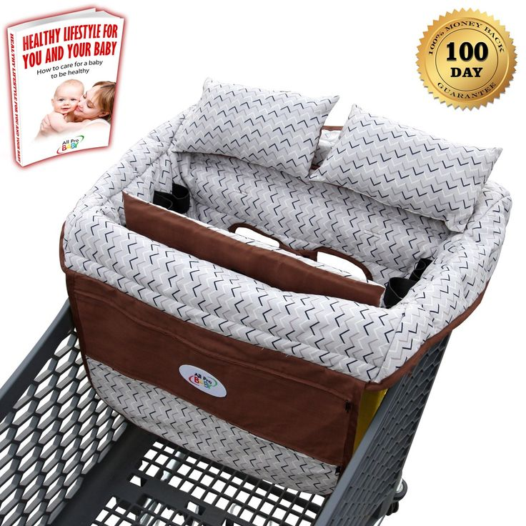 All Pro Baby Shopping Cart Cover with 2 Pillows & Padded Cushions | Best Grocery Cart Cover for Infant & Toddler | Boy & Girl | Restaurant High Chair Seat Cover | Safety Strap & Pho…