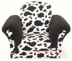 Cow Print Kids Chair Cowprintchair