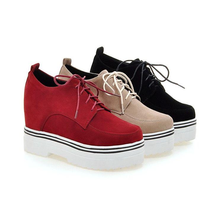 Lace Up Women Pumps High Heels Platform Shoes