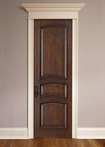 Interior Custom Mahogany Wood Door - beautiful . . .