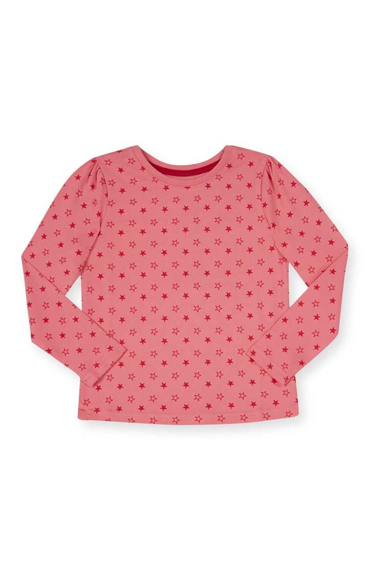 Primark - Roze shirt met sterrenprint