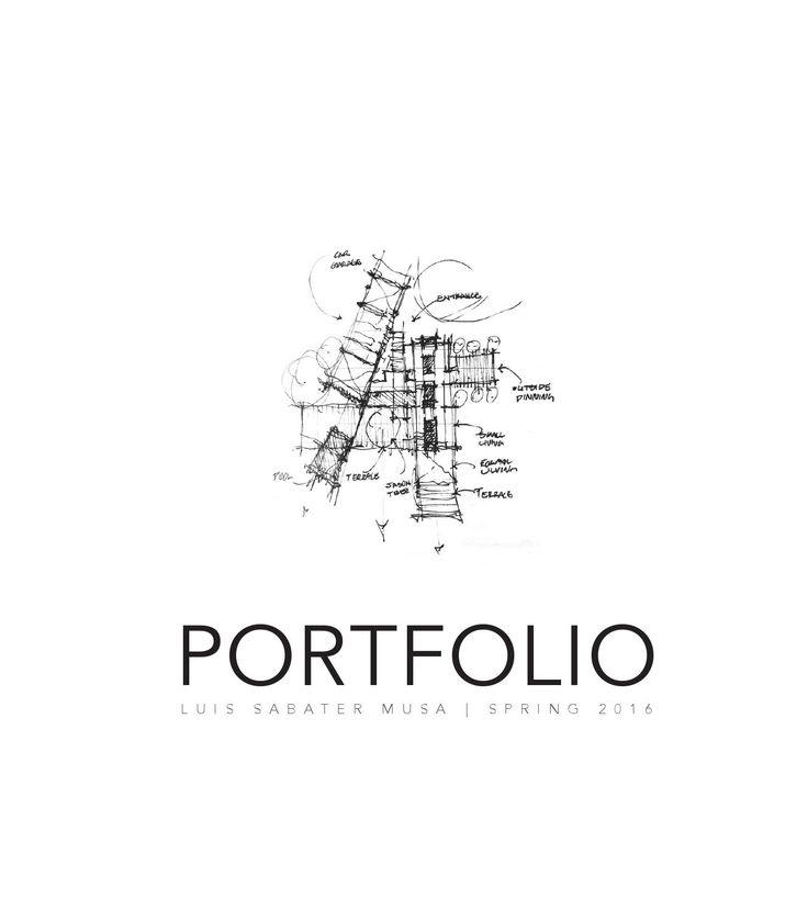 Architectural Portfolio Spring 2016