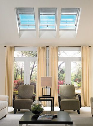Browse the entire range of VELUX roof windows and find the perfect roof window for your home extension. The low prices won't disappoint you either! Image via veluxusa.com.