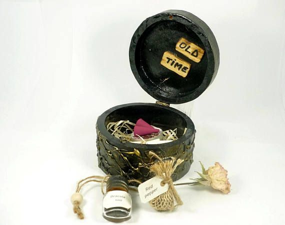 Witchcraft kit, love spell, spell candles, treasure box, Dracula soil, spell box, gift for her, Love Potion, Pagan, Wiccan, Spell Herbs,