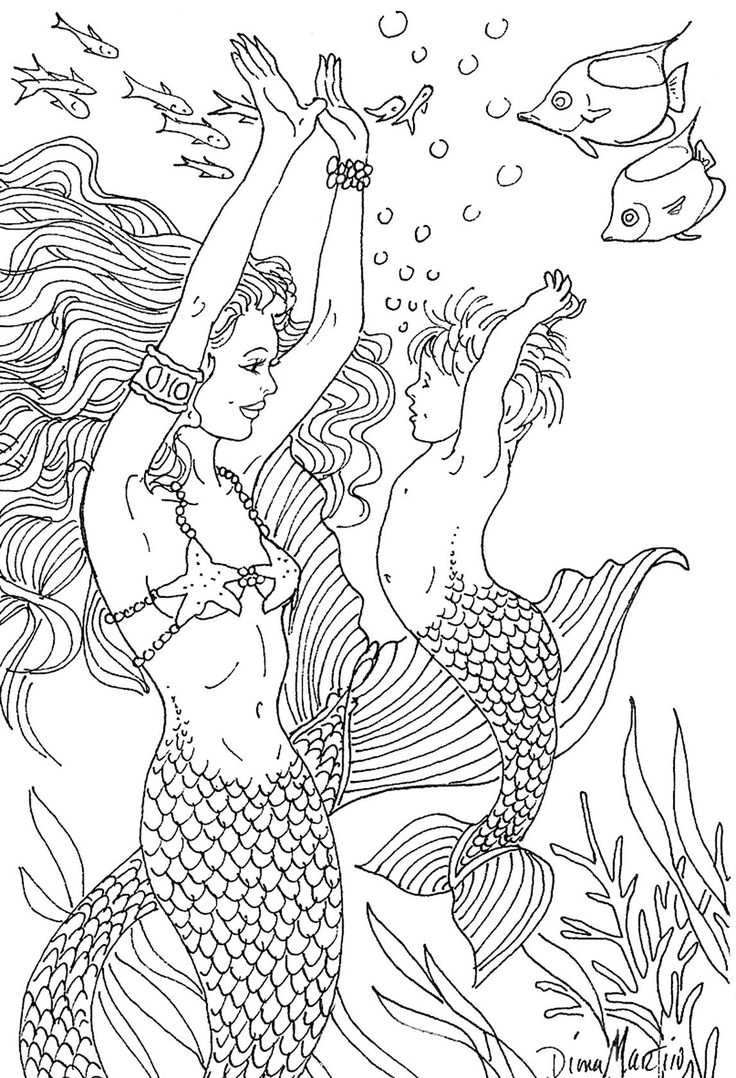 learning how to swim entire coloring book of 30 images is available for sale baby fishmermaid coloringadult
