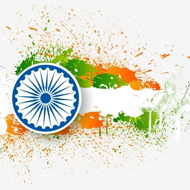 Wallpaper Indian Flag Tricolour Flag Flag Of India: Happy Republic Day Of India Splatter Splashes, Indian