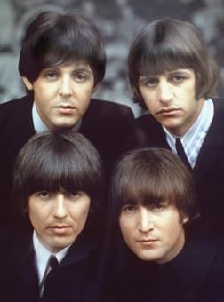 It's strange to think that The Beatles were once a boy band. Their 1964 performance on The Ed Sullivan Show catapulted them to fame. By early 1965, when this photograph was taken, The Beatles were an international phenomenon.=Music we listened to everyday.