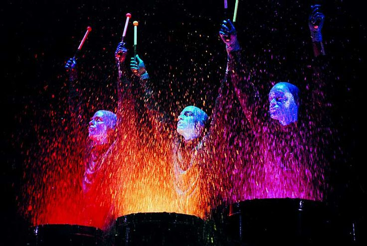 I have seen the Blue Man Group in Las Vegas, New York & Chicago. I have recurring dreams that I am one of them.