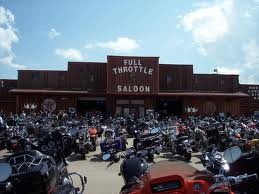 This is the outside of the Full Throttle Saloon. Always packed for the 2 weeks that they are open out of the year.