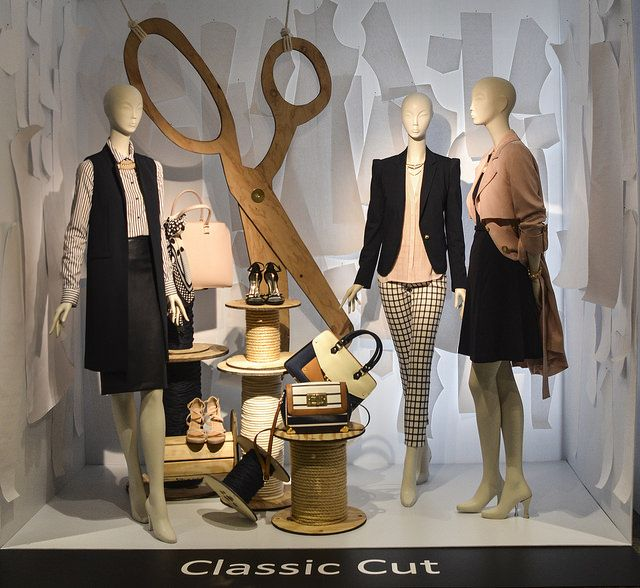"SENECA,Visual Merchandising Arts Exhibit, ""Classic Cut"", pinned by Ton van der Veer"