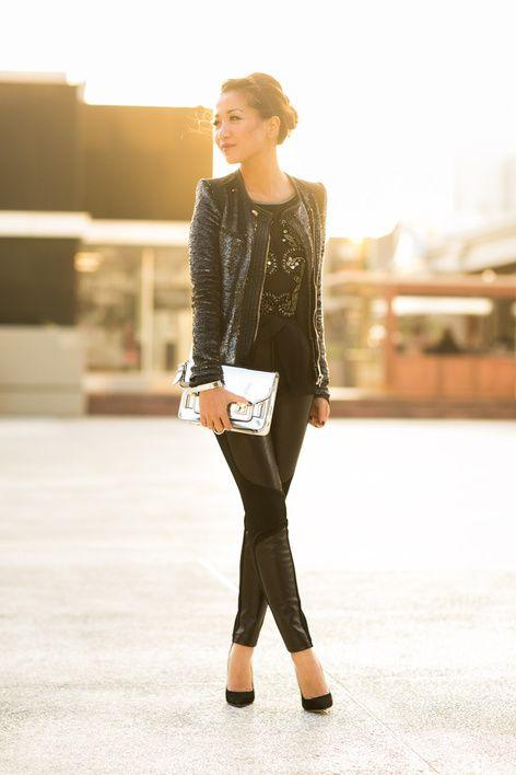New Light :: Sequin jacket  Panel leather : Wendy's Lookbook
