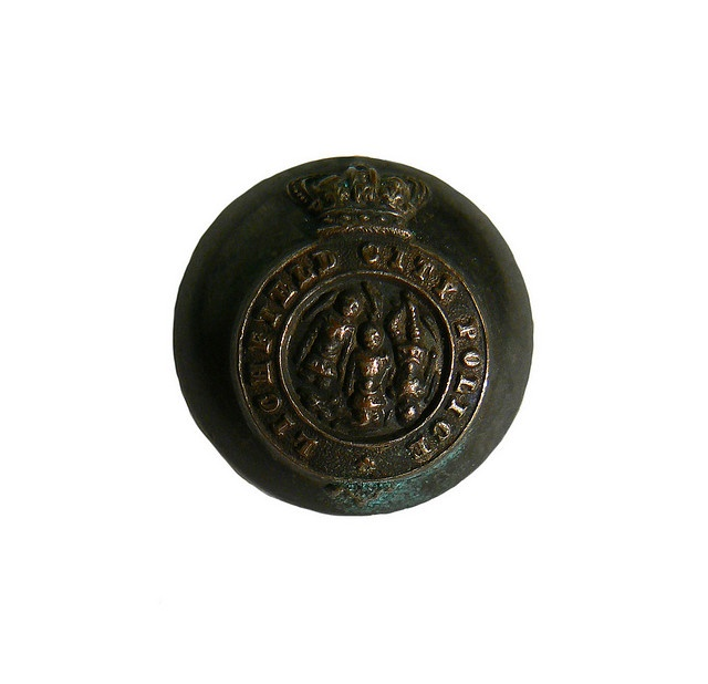 Lichfield city police button | Flickr - Photo Sharing!