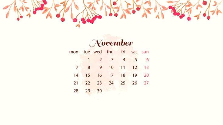 Free November Desktop Wallpaper – DayDreaming Art
