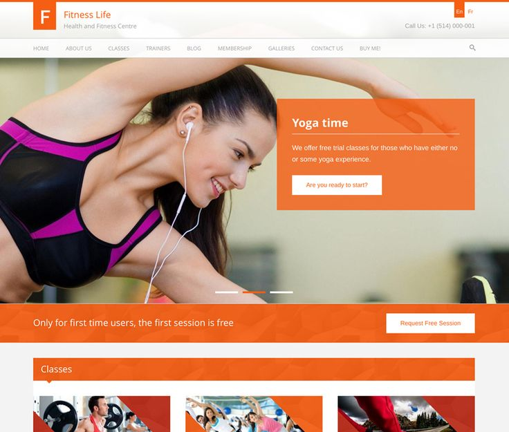 FitnessLife is a dynamic and stylish Gym & Fitness WordPress Theme that is perfectly designed for Personal Trainers, Fitness, Gyms or Yoga Classes.