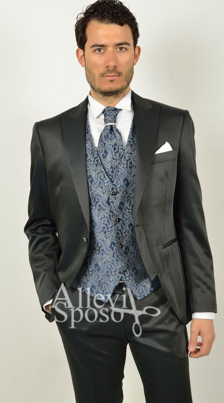 abito demitight stile andrea versali. abito da sposo milano www.allevisposo.it tel 0363914084