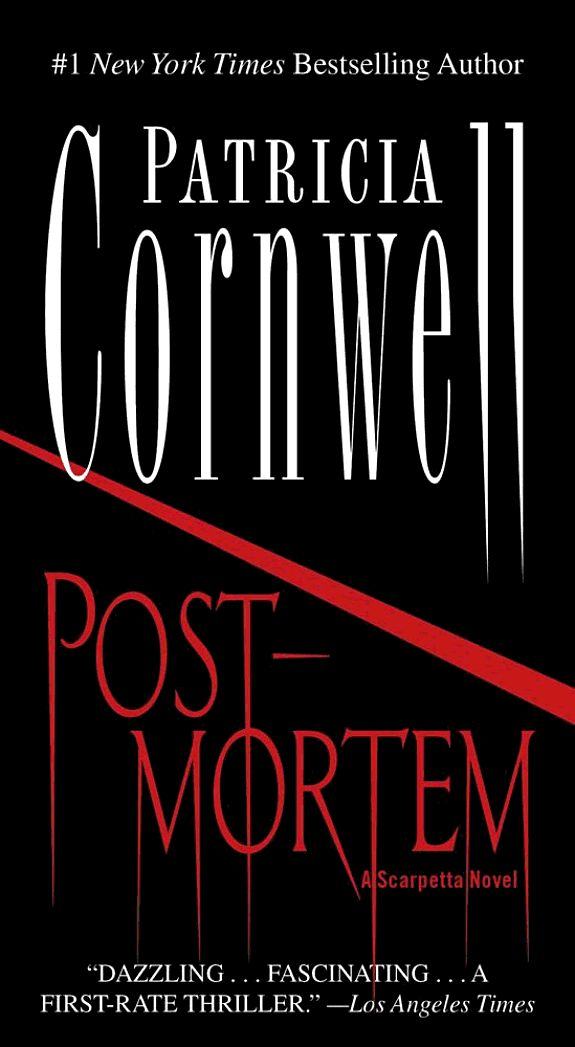 Postmortem - Patricia Cornwell. Book one. Samme titel på dansk. Bedst at læse Cornwell i rækkefølge. Book 1