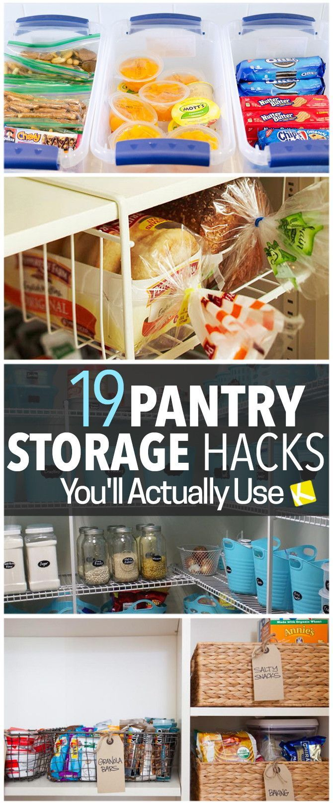 diy kitchen storage 19 pantry organization hacks that will change your life - Diy Kitchen Pantry Ideas