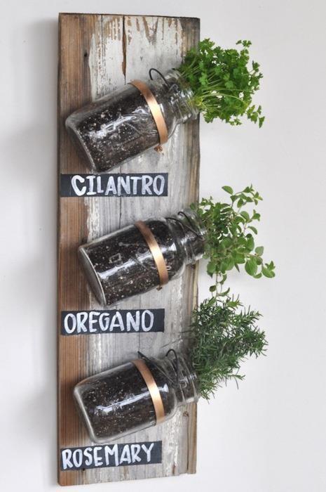 Genial idea para tus plantas aromáticas en la #cocina