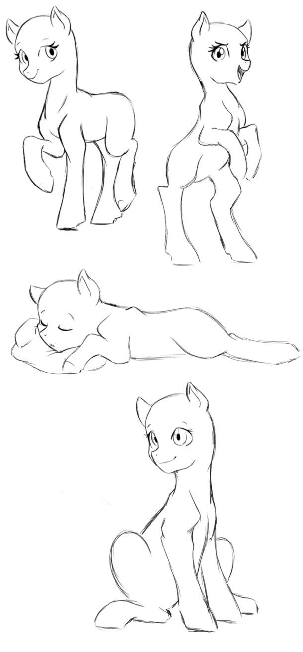 MLP poses 2 by hikariviny.deviantart.com on @DeviantArt