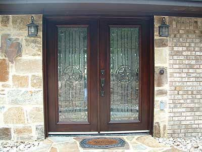 Texas Star Beveled Glass And Double Doors On Pinterest