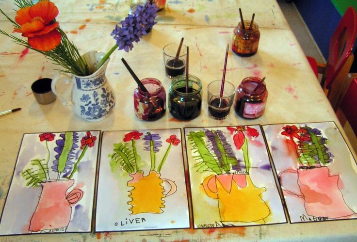 Flowers. Children - 5- with Britta Johanson.