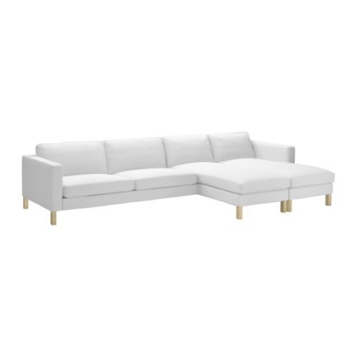IKEA just makes me happy... Modern and reasonably priced... I  <3 it.     KARLSTAD  2 chaise lounges + sofa, Blekinge white