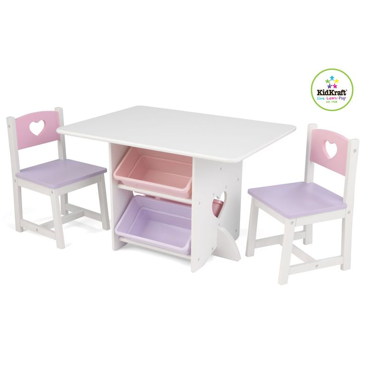 Kidkraft Heart, Set Tavolo e sedia per bambini 26913