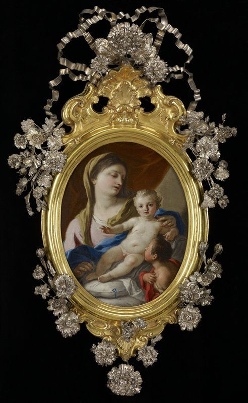 .*The Madonna and Child with the Infant St. John |  Francesco de Mura (Italy, Europe), c. 1750  Oil on copper with silver, silver gilt and gilt bronze frame