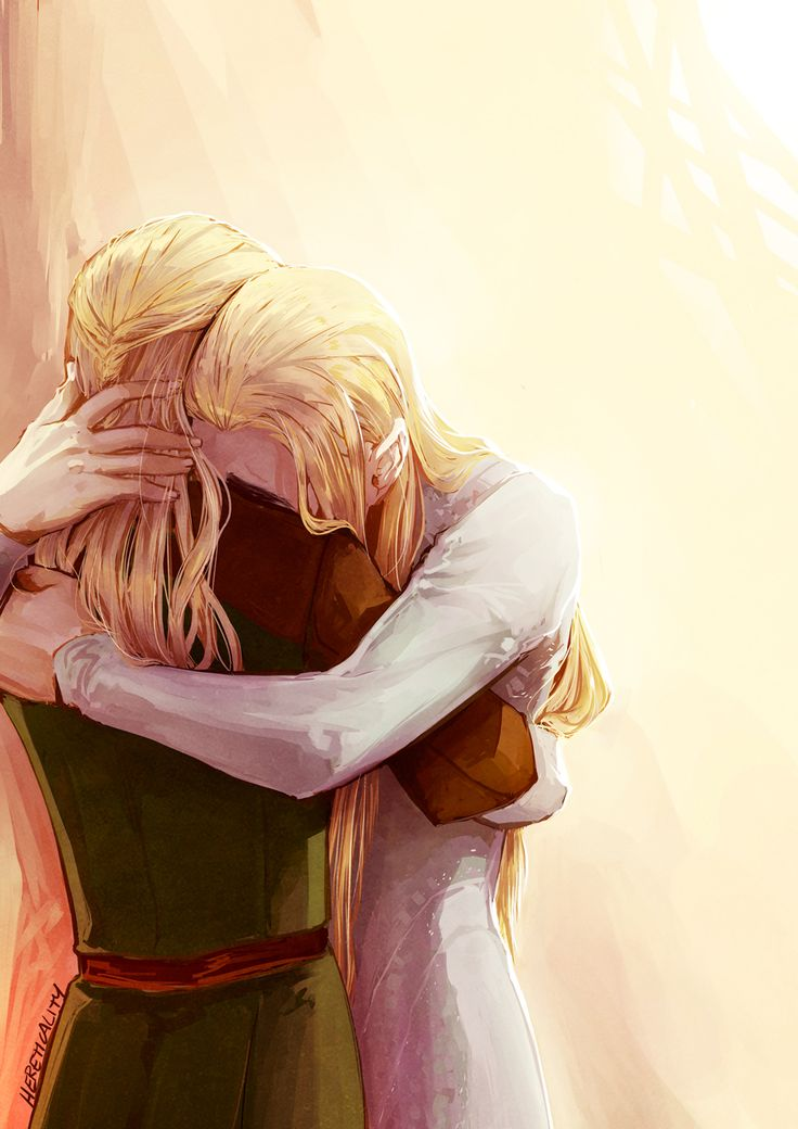"""There is silence and stillness in the air… as the two stand there without a word. Come on Thranduil do something. Can I not say I have brought out some sensitivity in him? But just then he pulls his son into an embrace. Finally. I smile as I watch the two hug. But when they part I can hear a whisper from the king, """"You're alive…"""" he seems overjoyed a bit. I can see relief in his eyes that his son is back… well for now. .... After the war of the ring"""