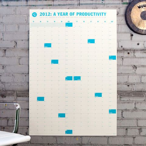 An even bigger wall calender to plan it all out on!