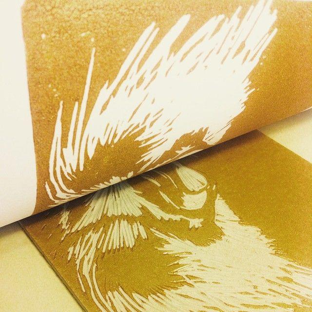 cat print golden ink www.lustre.cl