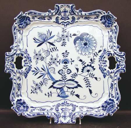 "Blue Danube (Japan) 15"" Square Serving Platter 1188011 