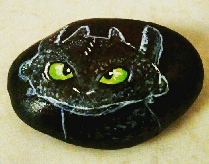 Painted pebble