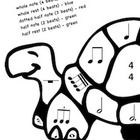 These fun coloring worksheets allow music students to learn the names and note values of basic rhythmic notation in 4/4 time while creating a color...