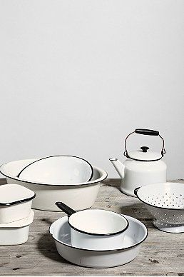 Vintage Enamelware Kitchen Set
