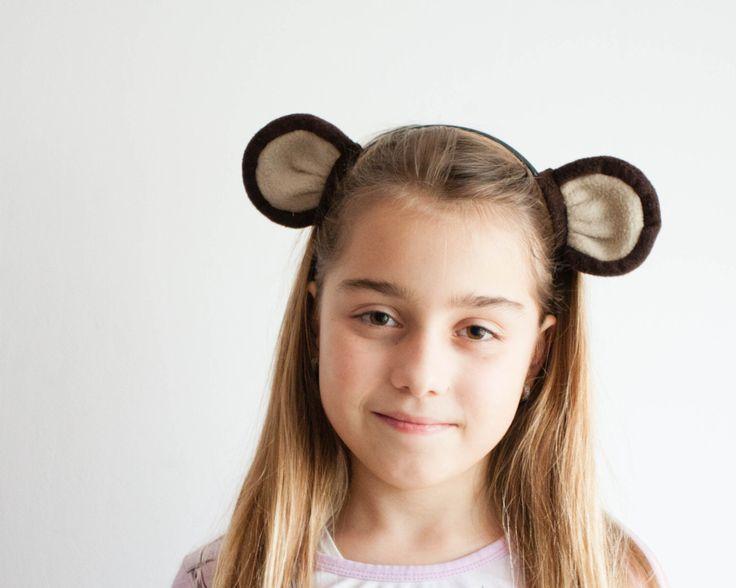 Monkey Headband, Children's Monkey Head Band, Monkey Ears Photo Prop, Pretend Play, Jungle Animal by oKidz on Etsy https://www.etsy.com/listing/212404427/monkey-headband-childrens-monkey-head