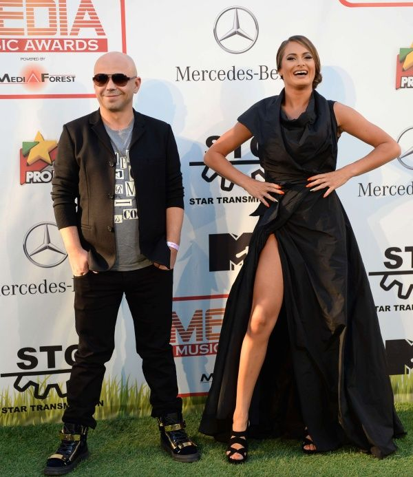 Raluka wearing Marie Ollie for Media Music Awards