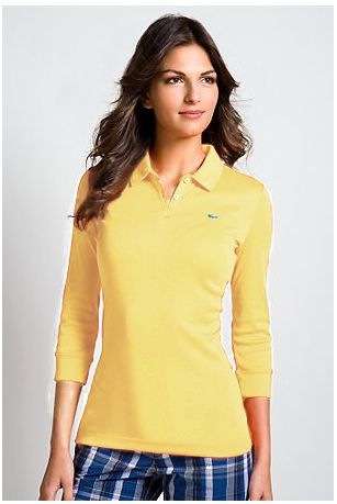 17 best images about lacoste womens long polos on for Womens button up polo shirts
