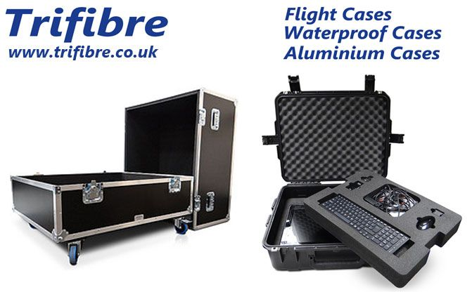 Flight Cases Manufactured by Trifibre. If you own a valuable and fragile equipment then invest in a fantastic product that will keep your equipment protected at all times. For more information visit www.trifibre.co.uk.