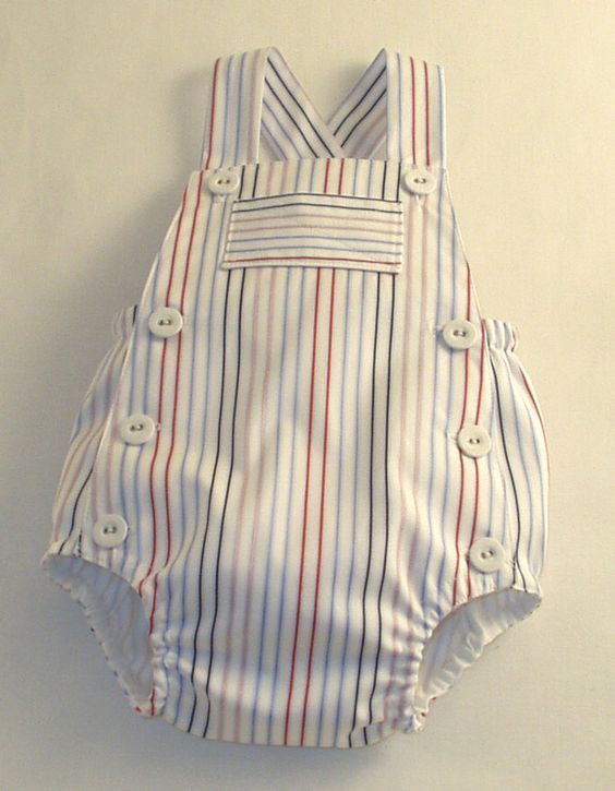 Seaside Striped Sunsuit by patriciasmithdesigns on Etsy: