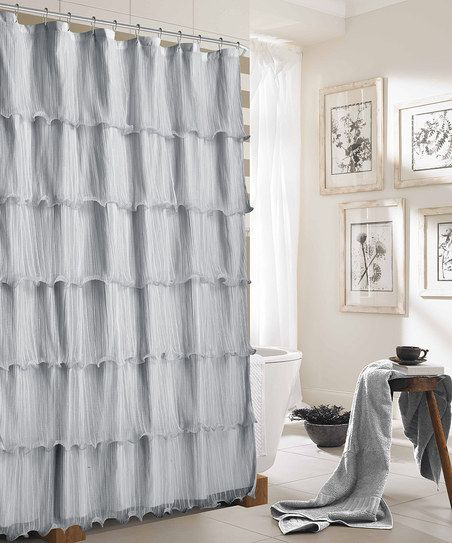 Dainty Home Silver Lily Shower Curtain | Zulily