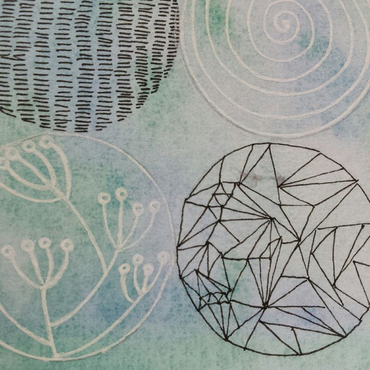 Close up detail of Patterned discs wall art
