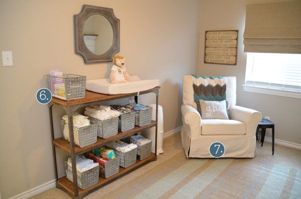 Love this changing table idea!