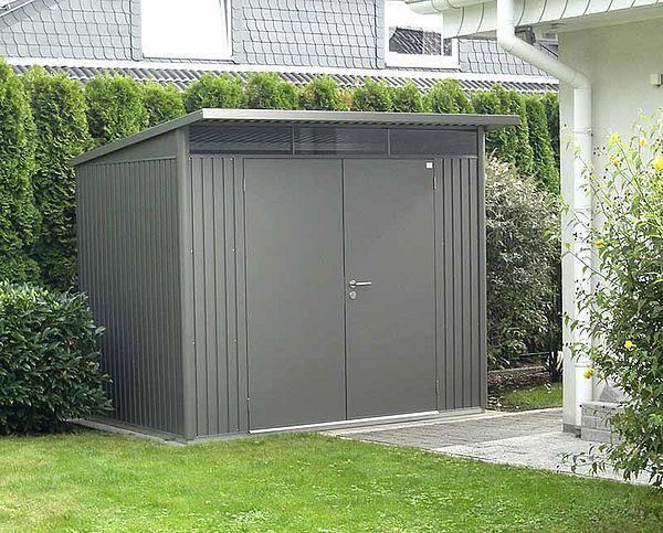 Geratehaus Avantgarde L Quarzgrau Metallic Doppeltur Gartenhaus Metall Im Freien Haus