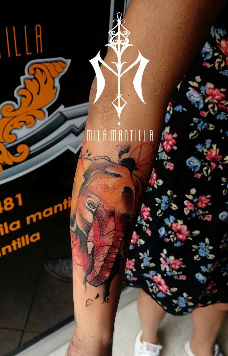 Elephant watercolors #tattooideas #art #work #book #tatts