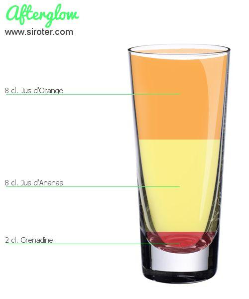 Cocktail Afterglow (sans alcool)