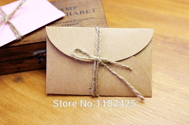 DIY Handmade kraft paper envelope wedding party invitation card, business card 20pieces/lot
