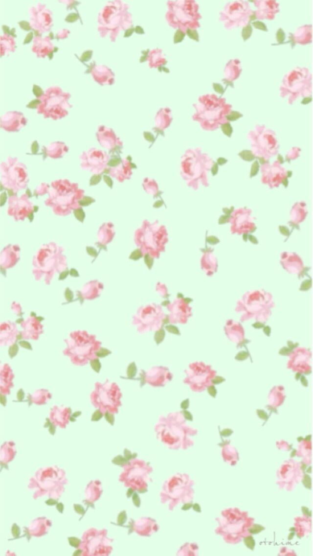 mint and pink wallpaper - photo #10