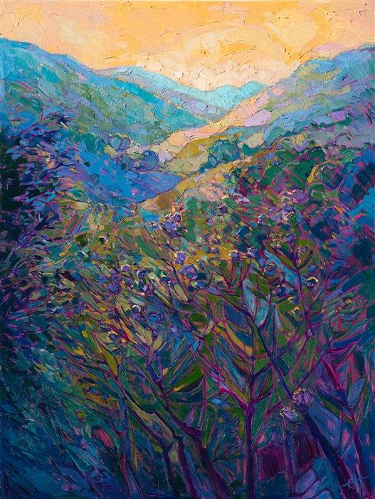 Modern impressionist painting in Monet colors, by contemporary artist Erin Hanson