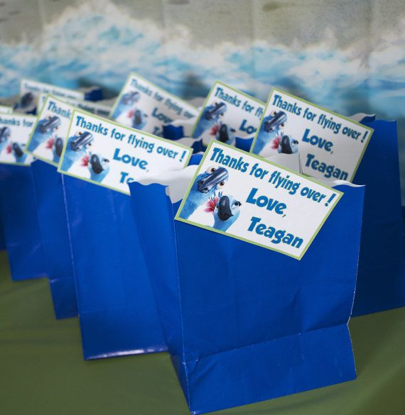 RIO Birthday Invitation and Thank You Tags by PartyScribbles, $10.00  party bags idea